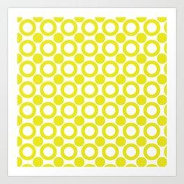 Dot 2 Yellow Art Print