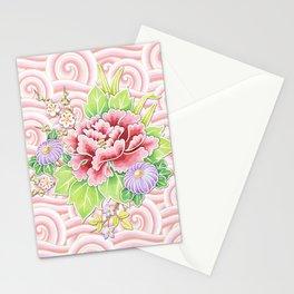 Pink Kimono Bouquet Stationery Cards