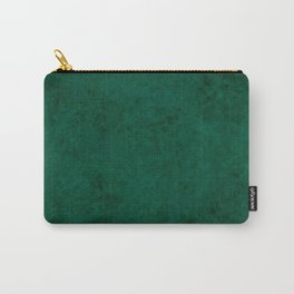 Green suede Carry-All Pouch