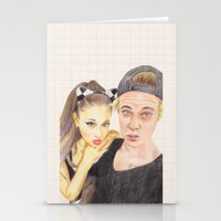 ariana grande Stationery Cards featuring Ariana and Justin by Share_Shop