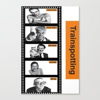 trainspotting Canvas Prints featuring TRAINSPOTTING by Rocky Rock