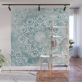 MINT LIGHT MANDALAS FOR JULY Wall Mural