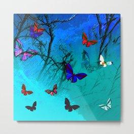 Butterflies in landscape series Metal Print