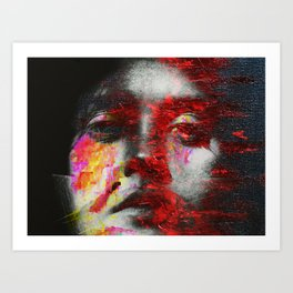 Somewhere Between The Screen And A Canvass Art Print