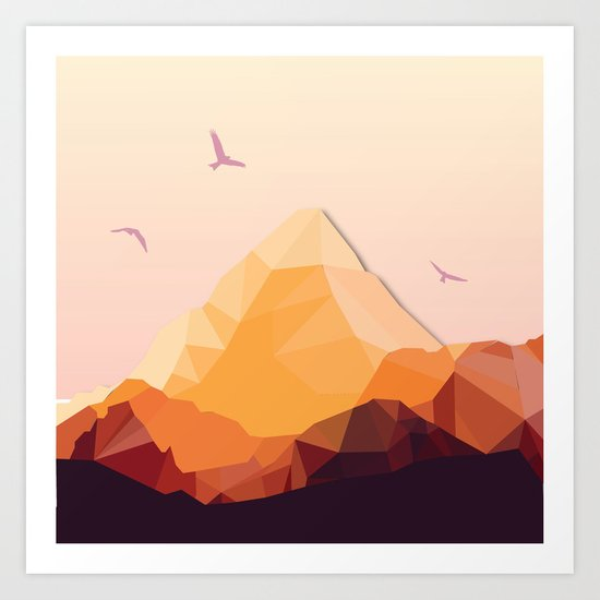 Night Mountains No. 25 Art Print