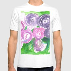 Roses White MEDIUM Mens Fitted Tee