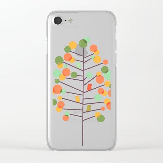 Happy Tree - Tweet Tweet Clear iPhone Case