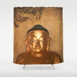 Gold Karma Shower Curtain