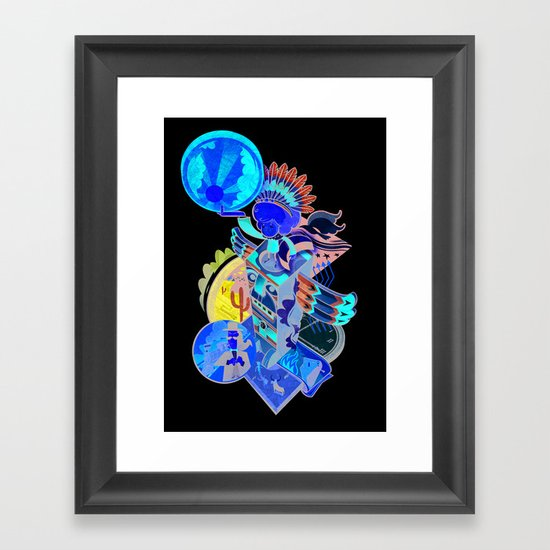 Captain Sundance - The Night Draws In Framed Art Print
