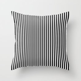 Black & White Vertical Stripes Throw Pillow