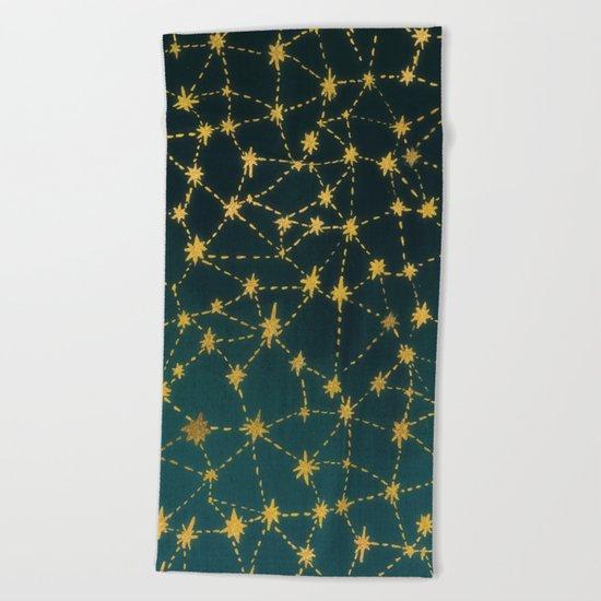 Stars Map Beach Towel