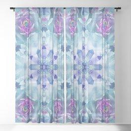 Royal Blue and Purple Mandala Sheer Curtain