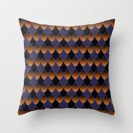 Squama Fhish Dark Pattern Throw Pillow