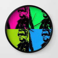 terminator Wall Clocks featuring Terminator by Bolin Cradley Art