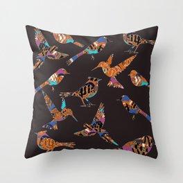 Batik birds Throw Pillow