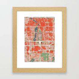 Beijing city map classic Framed Art Print