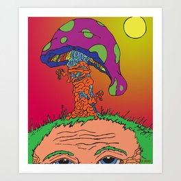 The Mushroom Man Art Print