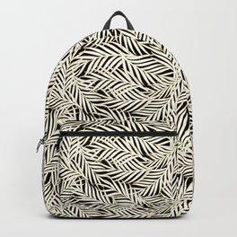 Palm Leaves Bg Black Backpack
