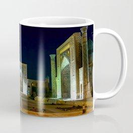 Registan square at night - Samarkand, Uzbekist Coffee Mug