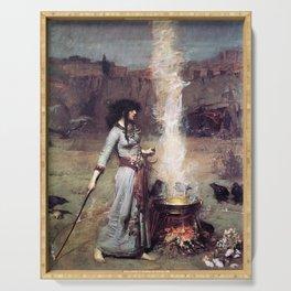 THE MAGIC CIRCLE - JOHN WILLIAM WATERHOUSE Serving Tray