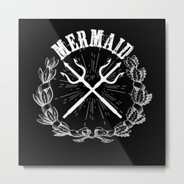 Mermaid Mermaid Gift Idea Design Motif Metal Print