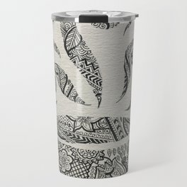 But first, Tea - tea coffee lover zentangle Travel Mug