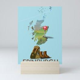 Edinburgh, Scotland, map Mini Art Print
