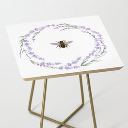 Lavender Bee Side Table