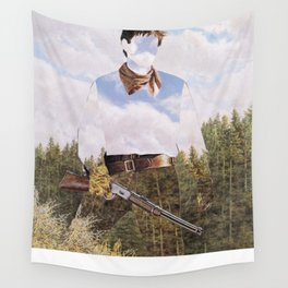 The Unknown Rider Iron Marshal Wall Tapestry