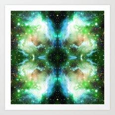 Aqua Space Nebula Art Print