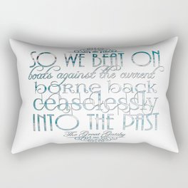 Boats Against the Current Rectangular Pillow