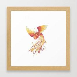 flaring phoenix Framed Art Print