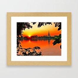 Sunset Leaves. Framed Art Print