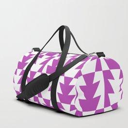 Art Deco Jagged Edge Pattern Magenta Duffle Bag