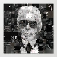 karl lagerfeld Canvas Prints featuring Karl Lagerfeld by Artstiles