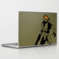 master chief Laptop & iPad Skins featuring Master Chief Redux by Anthony Bellus