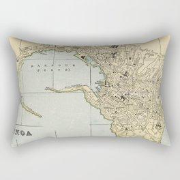 Vintage Map of Genoa Italy (1901) Rectangular Pillow