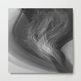 Flame - B&W Metal Print