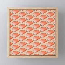 Salmon Fish Fillet Fiesta, Seafood on Peach Framed Mini Art Print