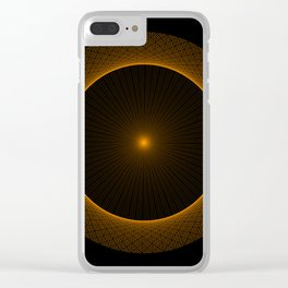 Interference Pattern Clear iPhone Case