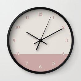 Boho Color Block Wall Clock