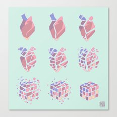 Procedural Heartbreak Canvas Print