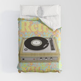 Retro Vibes Record Player Design in Yellow Comforters
