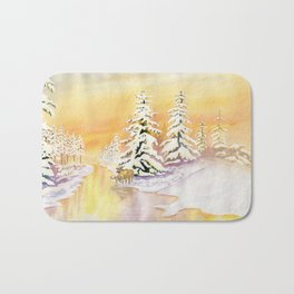 Winter Sunset Bath Mat