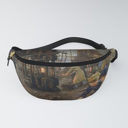 'The Munitions Girls' oil painting, England, 1918 Fanny Pack