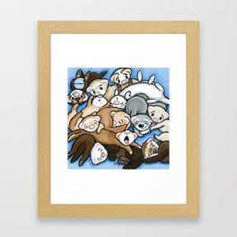 Wall to Wall Weasels Framed Art Print