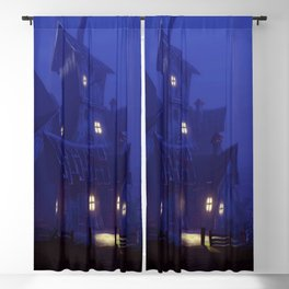 Amazing Awesome Fantasy Gloomy House In Spooky Forest Ultra HD Blackout Curtain