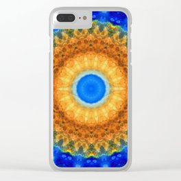 Third Eye Mandala Art by Sharon Cummings Clear iPhone Case
