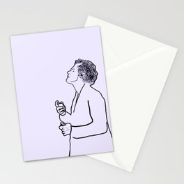 Harry Styles Minimal Purple Stationery Cards