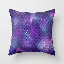 Dark Galaxy Mermaid Pattern Throw Pillow